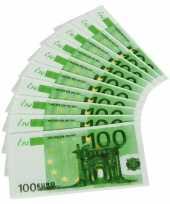 Nepgeld servetten 100 euro trend