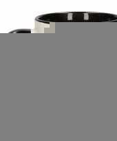 Nieuwjaarsdag theebeker zwart wit 300 ml trend