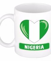 Nigeriaanse vlag hartje theebeker 300 ml trend