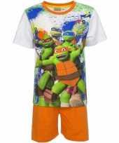 Ninja turtles korte pyjama oranje trend