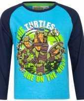 Ninja turtles t-shirt blauw voor jongens trend