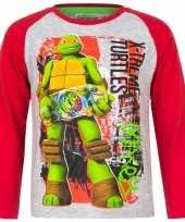 Ninja turtles t-shirt grijs rood voor jongens trend