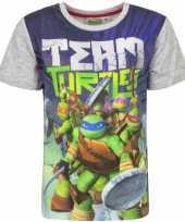 Ninja turtles t-shirt met grijze mouwtjes trend