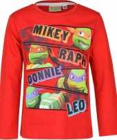 Ninja turtles t-shirt rood trend