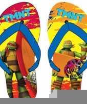 Ninja turtles teenslippers rood oranje blauw voor kinderen trend