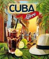 Nostalgisch muurplaatje cuba libre 15 x 20 cm trend