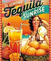 Nostalgisch muurplaatje tequila sunrise 30 x 40 cm trend