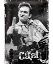 Nostalgische muurplaat johnny cash 20 x 30 cm trend