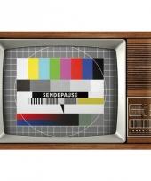Nostalgische muurplaat retro tv 20 x 30 cm trend