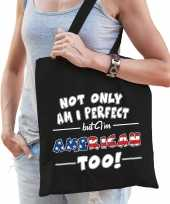 Not only perfect american amerika cadeau tas zwart voor dames trend