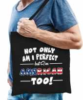 Not only perfect american amerika cadeau tas zwart voor heren trend