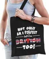 Not only perfect british groot brittannie cadeau tas zwart voor dames trend
