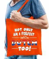 Not only perfect dutch nederland cadeau tas oranje voor heren trend