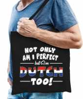 Not only perfect dutch nederland cadeau tas zwart voor heren trend