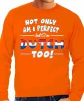 Not only perfect dutch nederland sweater oranje voor heren trend
