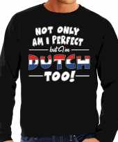 Not only perfect dutch nederland sweater zwart voor heren trend