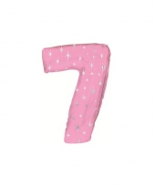 Nummer ballonnen 7 roze trend