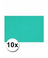 Oceaan blauw knutselpapier a4 formaat 10 stuks trend