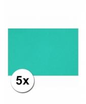 Oceaan blauw knutselpapier a4 formaat 5 stuks trend