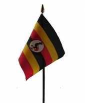 Oeganda vlaggetje met stokje trend