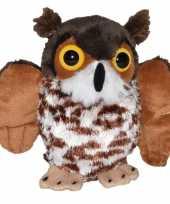 Oehoe uilen speelgoed artikelen oehoe uil knuffelbeest bruin 18 cm trend