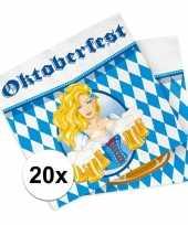 Oktoberfest 20x oktoberfest versiering servetten trend