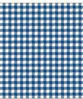 Oktoberfest 40x geruite blauw witte servetten 33 x 33 cm trend