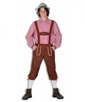 Oktoberfest bruine lederhose voor heren trend