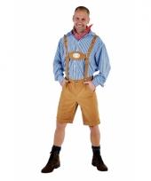 Oktoberfest lederhosen lichtbruin trend