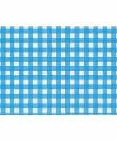 Oktoberfest placemat blauw wit geblokt 43 x 30 cm trend