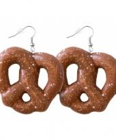 Oktoberfest pretzel oorbellen trend