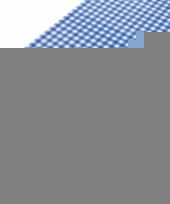 Oktoberfest tafelkleed pvc blauwe ruit 140 x 240 cm trend