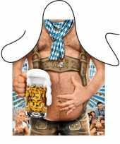 Oktoberfest tiroler bierbuik schort trend