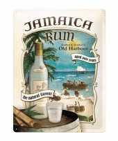 Old harbour poster muurdecoratie jamaica rum 30 x 40 cm trend