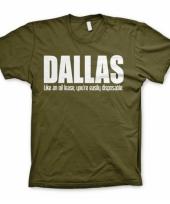 Olijf groen dallas t-shirt trend
