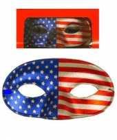 Oogmasker met amerika kleur trend