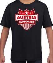 Oostenrijk austria schild supporter t-shirt zwart voor kinder trend