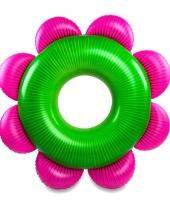 Opblaas bloem zwemband 153 cm trend