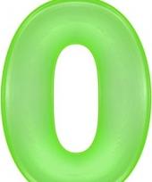 Opblaas cijfer 0 groen trend