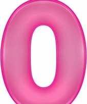 Opblaas cijfer 0 roze trend