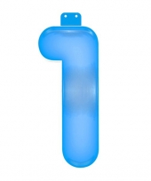 Opblaas cijfer 1 blauw trend