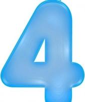 Opblaas cijfer 4 blauw trend