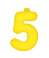 Opblaas cijfer 5 geel trend