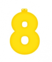 Opblaas cijfer 8 geel trend