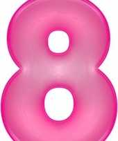 Opblaas cijfer 8 roze trend