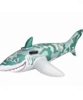 Opblaas haai camouflage 183 cm trend