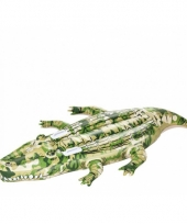 Opblaas krokodil camouflage 175 cm trend