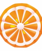 Opblaas sinaasappel schijf 150 cm trend