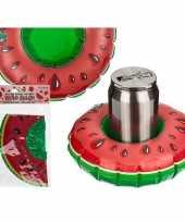 Opblaas watermeloen drankjes houder 18 cm trend