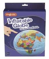 Opblaas wereldbol 30 cm speelgoed trend